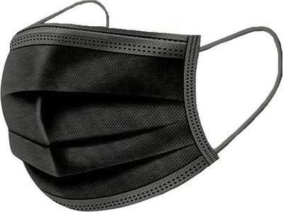 Mondmasker 50 st zwart