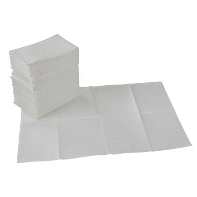 Table towel 50st paper/plastic White