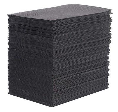 Table towel 50st paper/plastic Black